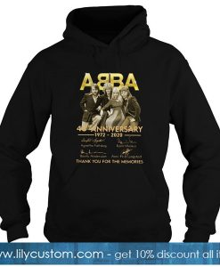 ABBA 48th Anniversary 1972 2020 Thank You For The Memories Hoodie-SL