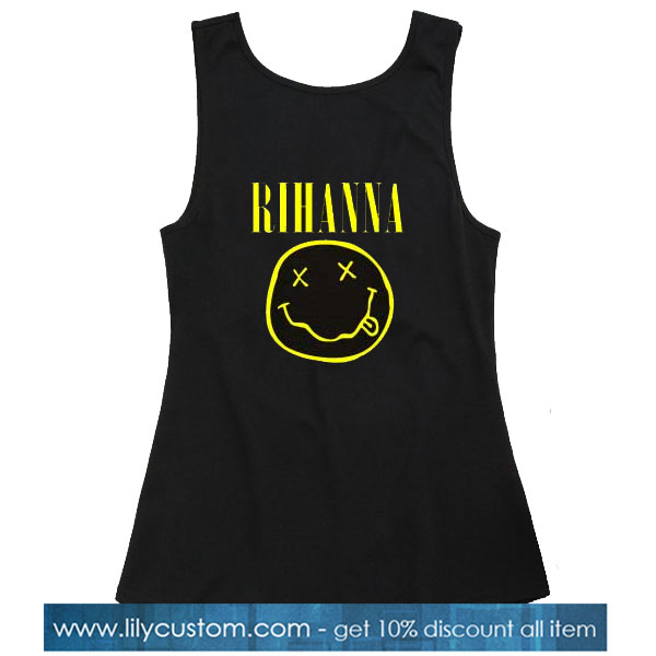 Rihanna Nirvana Logo Tank Top SN