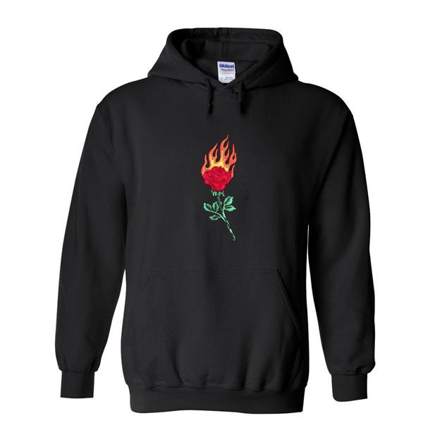 Rose Fire Hoodie-SL