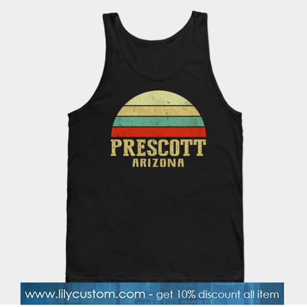 Vintage Retro Sunset Prescott Arizona Tank Top-SL