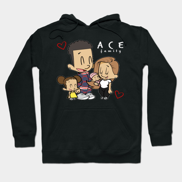 ace family merch kids Hoodie-SL