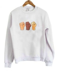3 Black Lives Hand Sweatshirt
