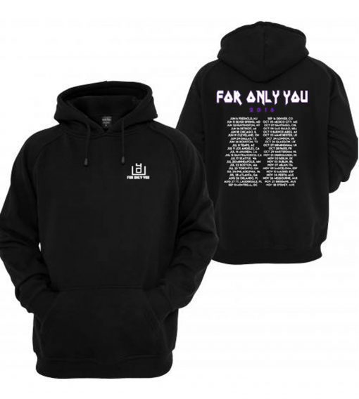 4OU World Tour 2016 Black Front and Back Hoodie