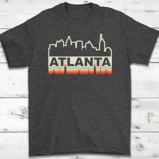 Atlanta Skyline Vintage Retro T-Shirt