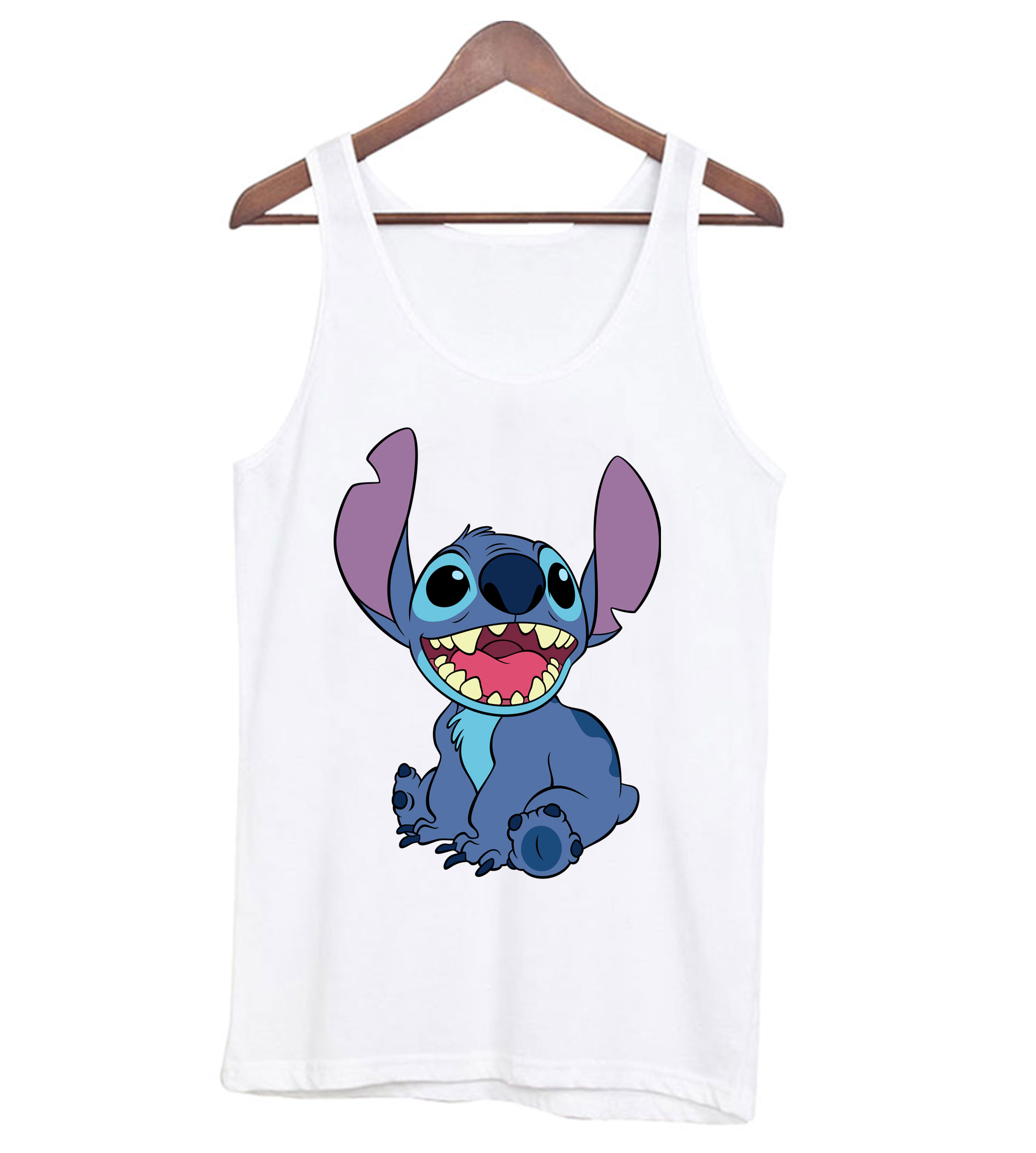 Stitch White Tank-top