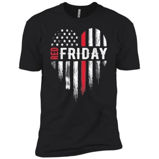 Thin Red Friday USA Line Design T-Shirt