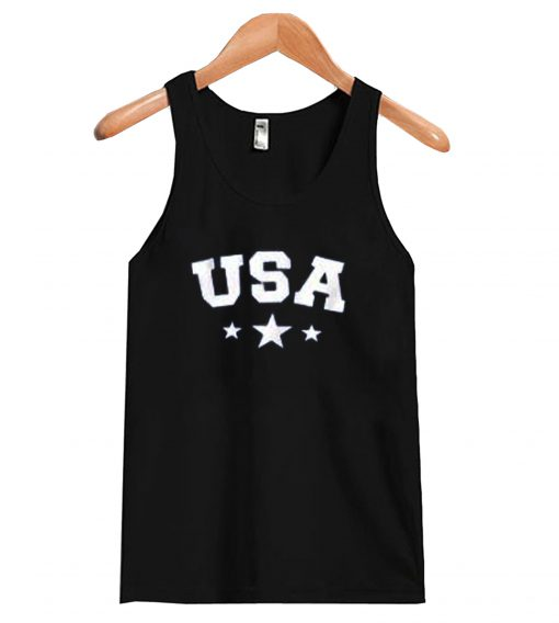 USA Star Letter Graphic Tank-top