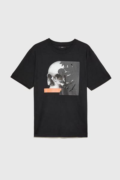 ZARA Male Skull t t-shirt