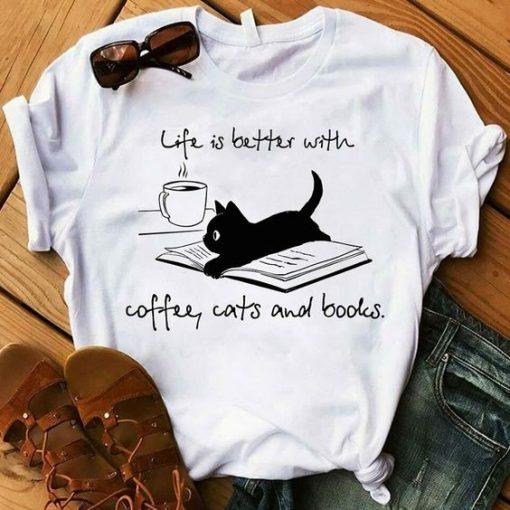 Coffee cats T shirt