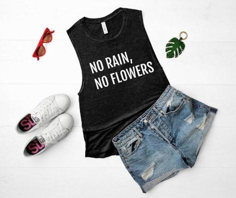 No Rain, No Flowers Tanktop
