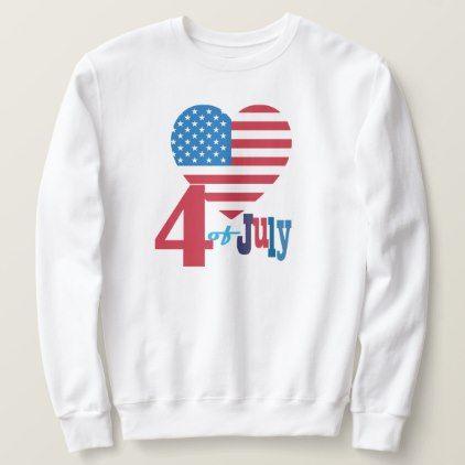 USA Flag Heart Sweatshirt