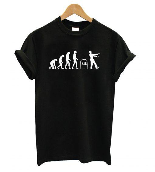 Zombie Evolution Monkey Death Reborn Undead Brain Eaters T shirt