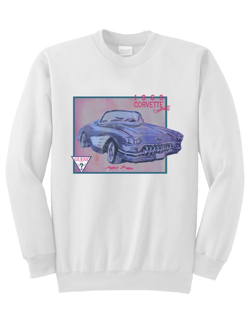 1960 corvette convertible sweatshirt NA
