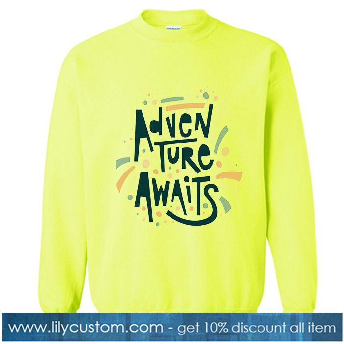 Adventure Awaits Yellow Sweatshirt