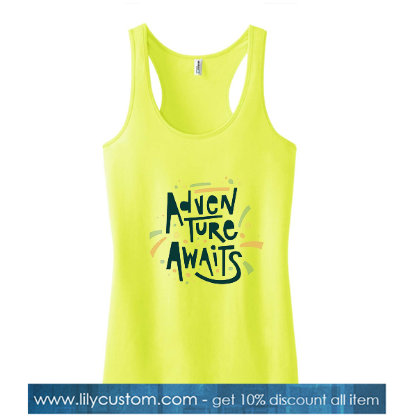 Adventure Awaits Yellow Tank Top