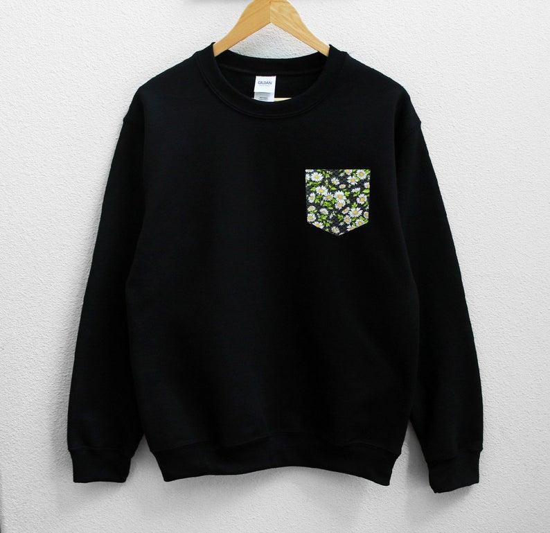 Daisy Flower Pocket Sweatshirt NA