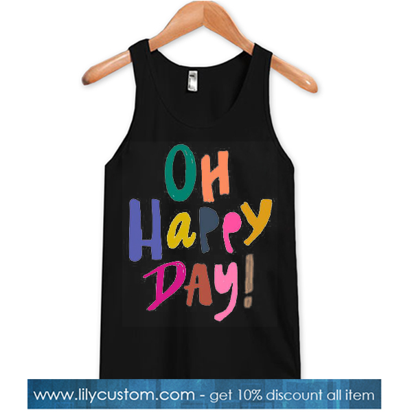 Oh Happy Day! Black TANK TOP