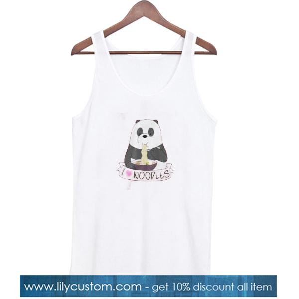 Panda Love Noodle Tank Top