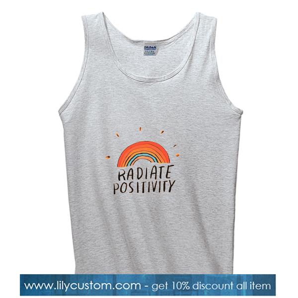 Radiate Positivity Grey TANK TOP