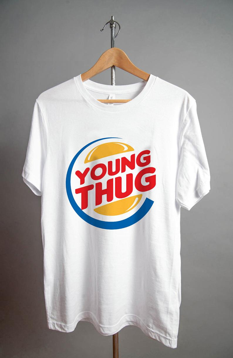 Young Thug Burger King T Shirt NA