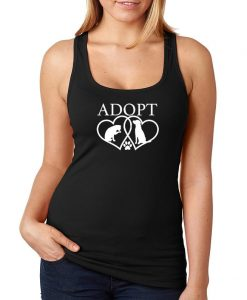 Adopt Cat Dog Paw Heart tank top NA