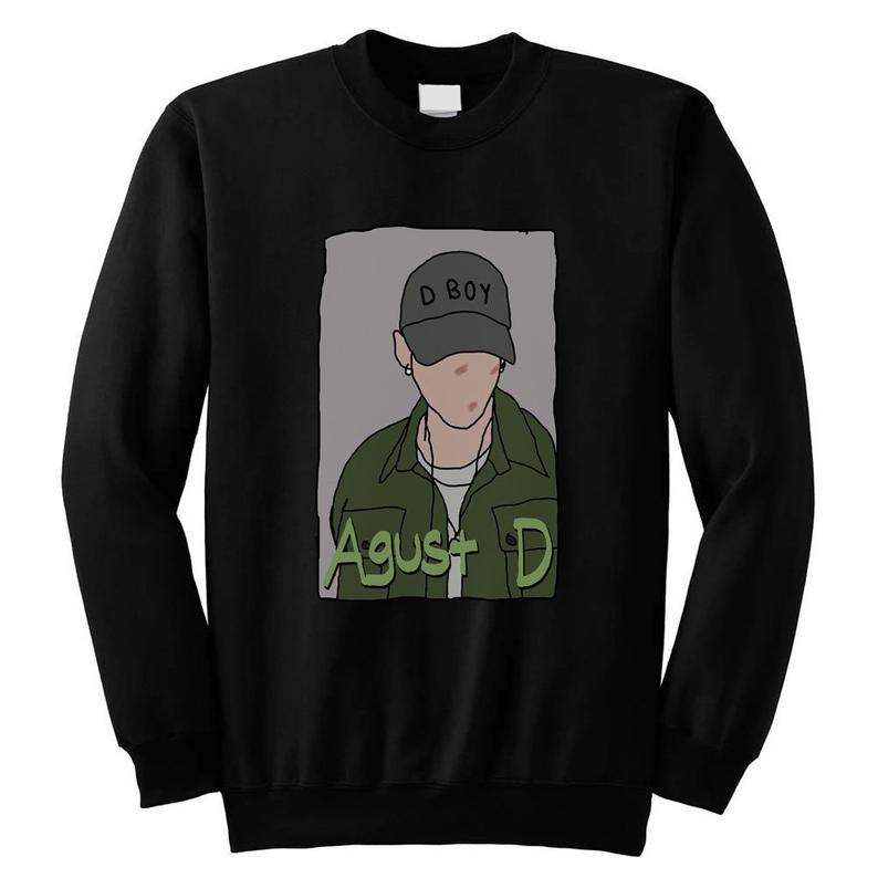Agust D Suga BTS Bangtan Boys KPOP Style Unisex Sweatshirt NA