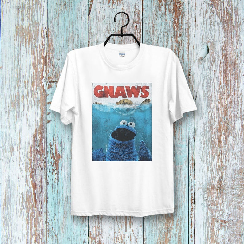 Gnawns Sesame Street Cookie Monster t shirt NA