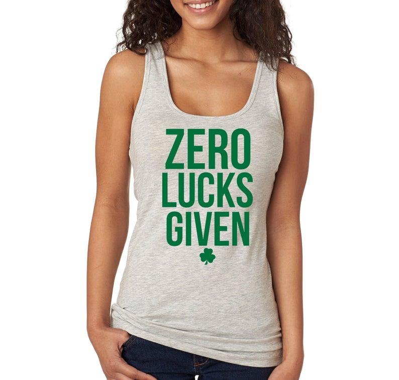 Zero Lucks Given tank top NA